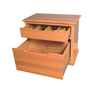Toy Organizer with Open Drawers